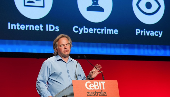 Eugene Kaspersky speaking at CeBIT 2012